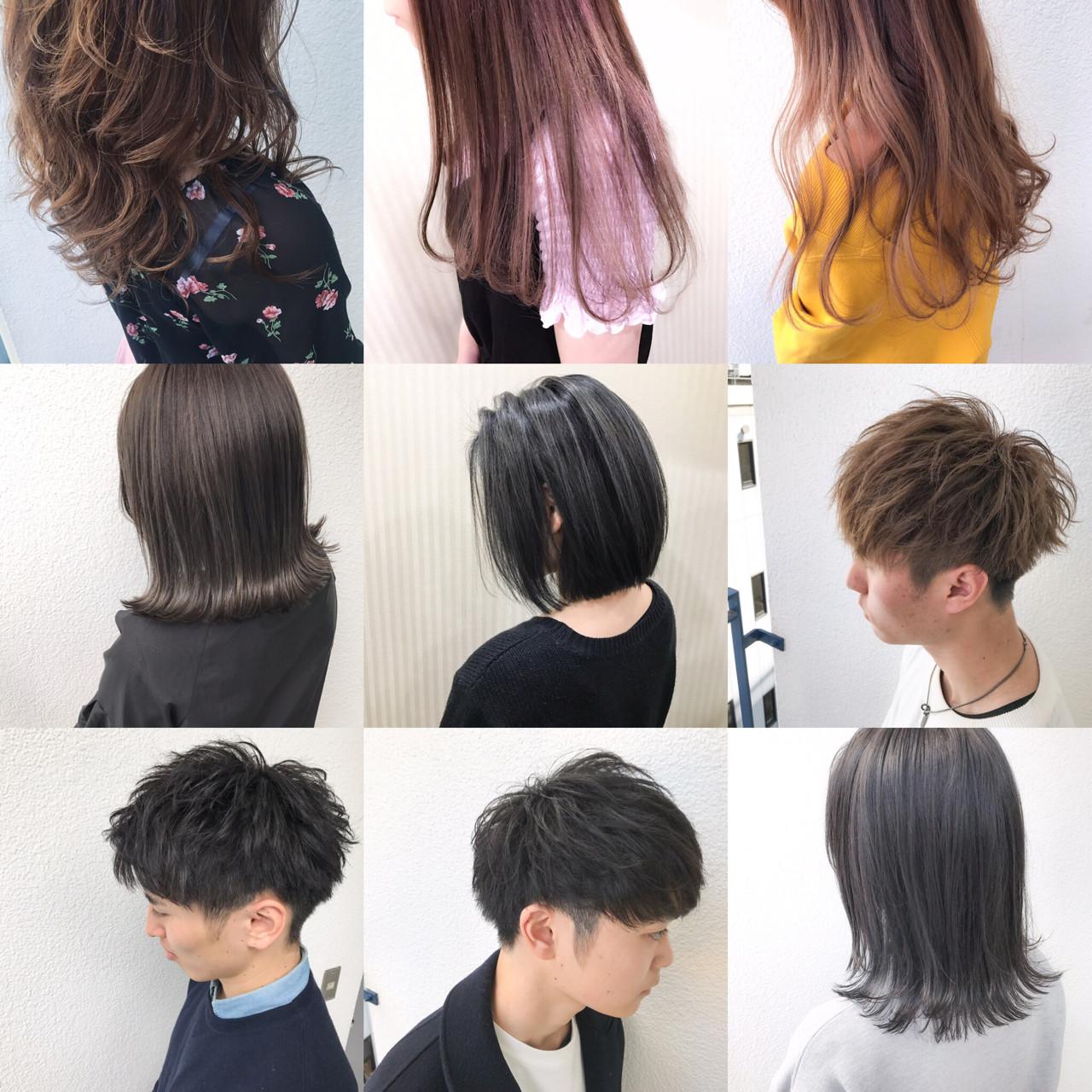 ブラウン 外国人風カラー ナチュラル アッシュ ヘアスタイルや髪型の写真・画像