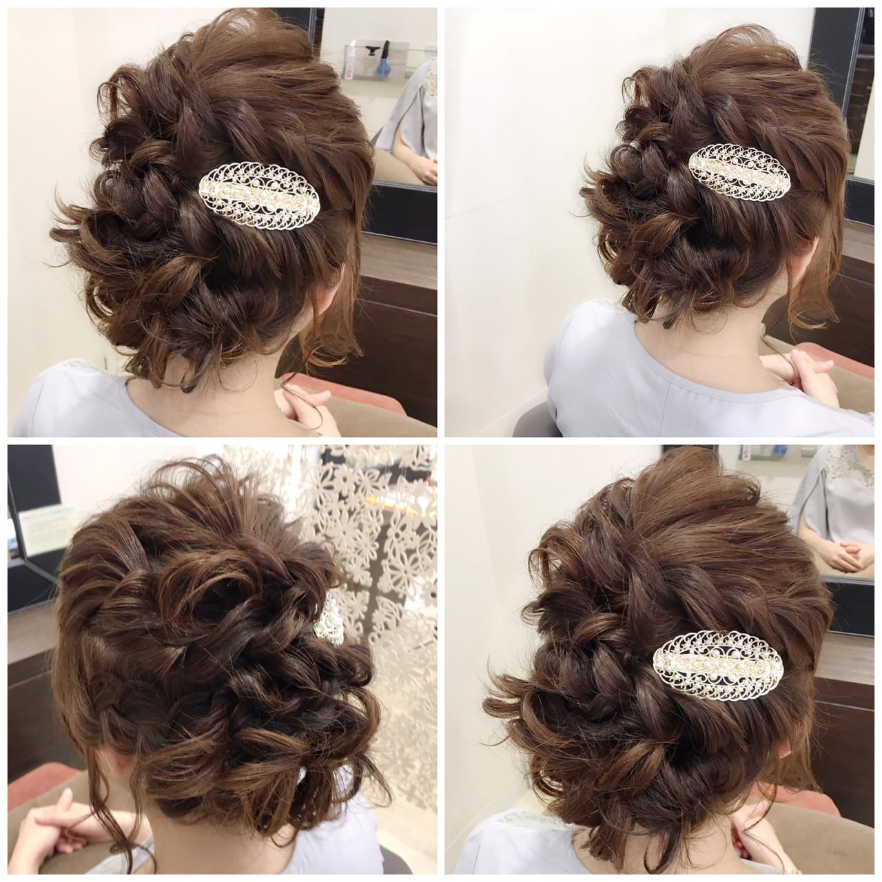 ナチュラル ボブ 結婚式 ヘアアレンジ ヘアスタイルや髪型の写真・画像