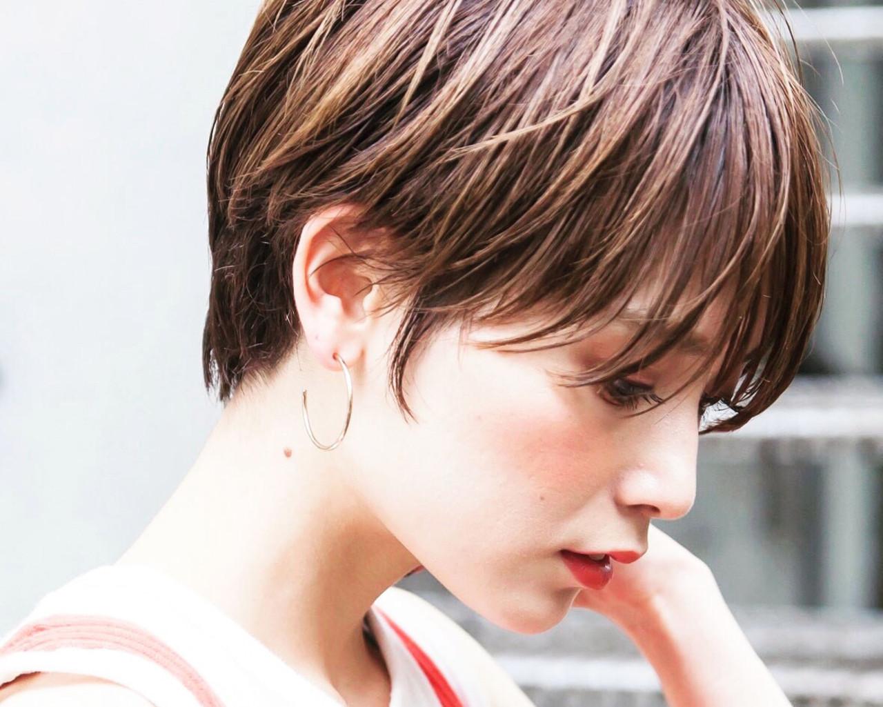 ヌーディベージュ ミルクティーベージュ ベリーショート ショート ヘアスタイルや髪型の写真・画像 | 可愛いにはコツがある!ナチュラルizumi / Siena