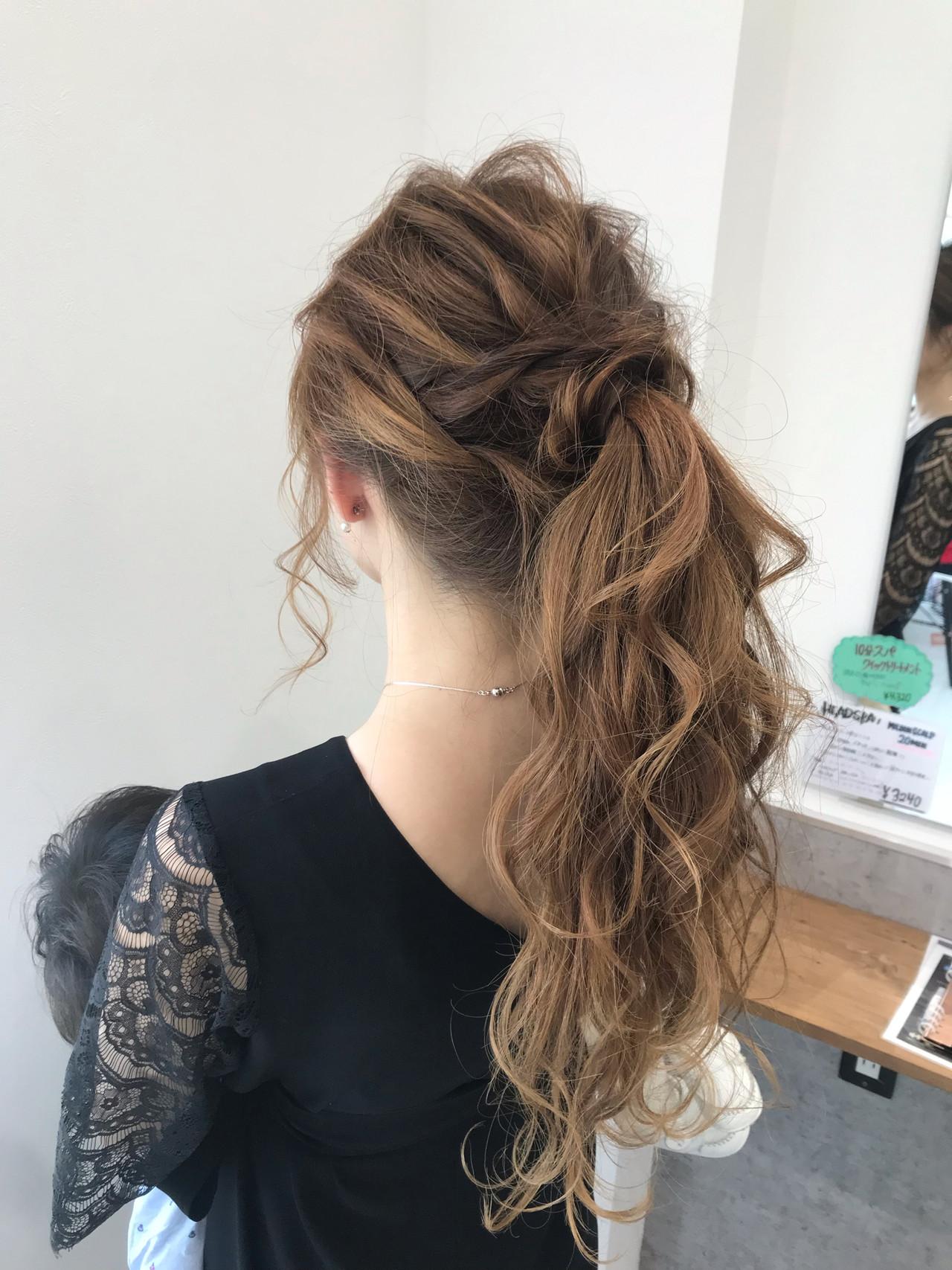 デート フェミニン ロング 結婚式 ヘアスタイルや髪型の写真・画像