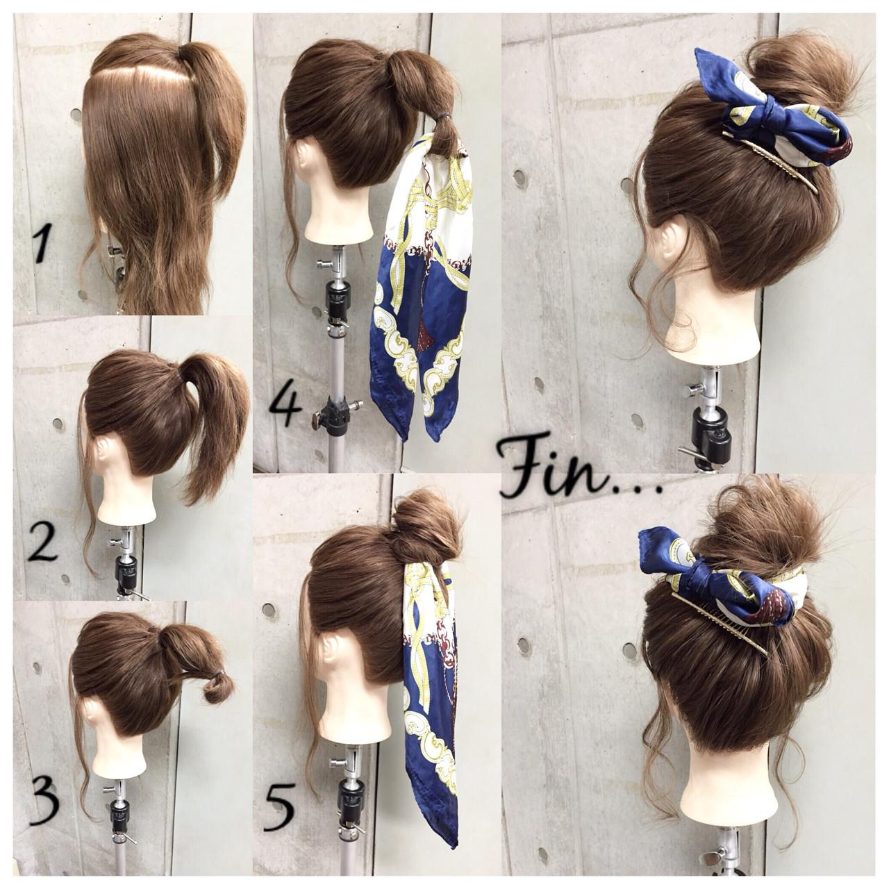 ショート 大人女子 メッシーバン ヘアアクセ ヘアスタイルや髪型の写真・画像