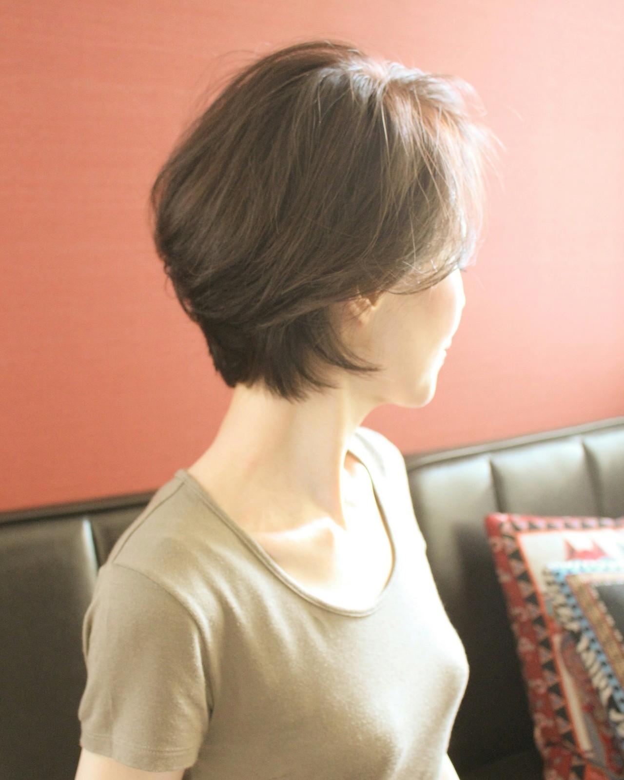 こなれ感 ショート ショートボブ ナチュラル ヘアスタイルや髪型の写真・画像