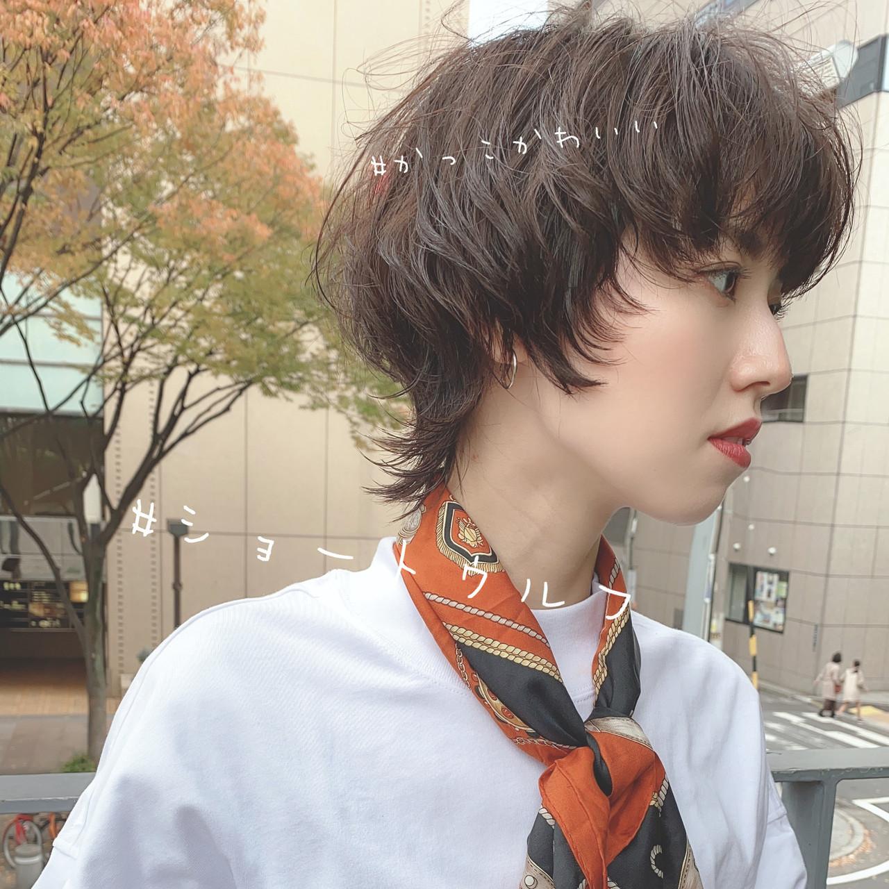 ショートボブ ショート ショートヘア ウルフカット ヘアスタイルや髪型の写真・画像