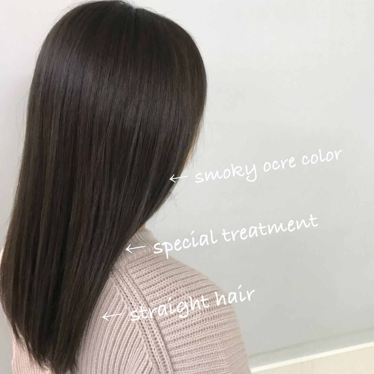 ヘアアレンジ ストレート デート 簡単ヘアアレンジ ヘアスタイルや髪型の写真・画像
