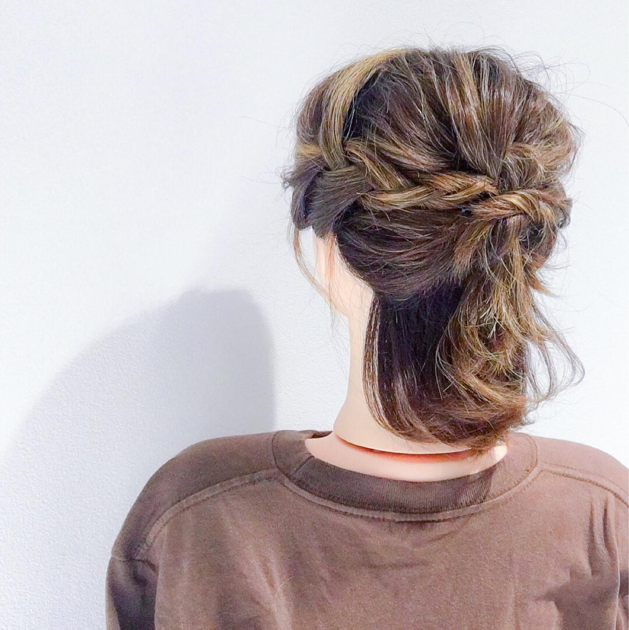 ヘアアレンジ フェミニン 簡単ヘアアレンジ デート ヘアスタイルや髪型の写真・画像