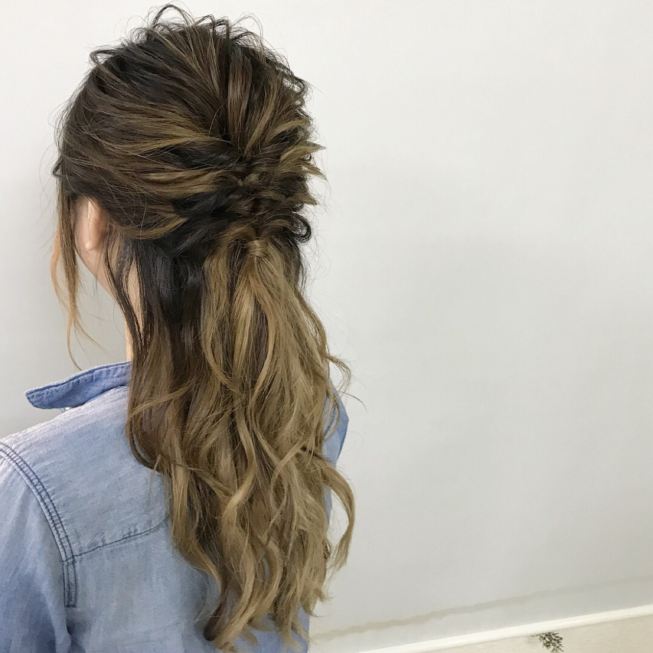 ヘアアレンジ ナチュラル ロング 結婚式 ヘアスタイルや髪型の写真・画像   新谷 朋宏 / Free hairstylist shinya