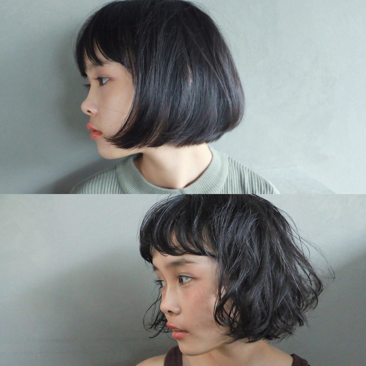 ぱっつんボブで大人可愛く!おすすめヘアスタイルと簡単スタイリング法