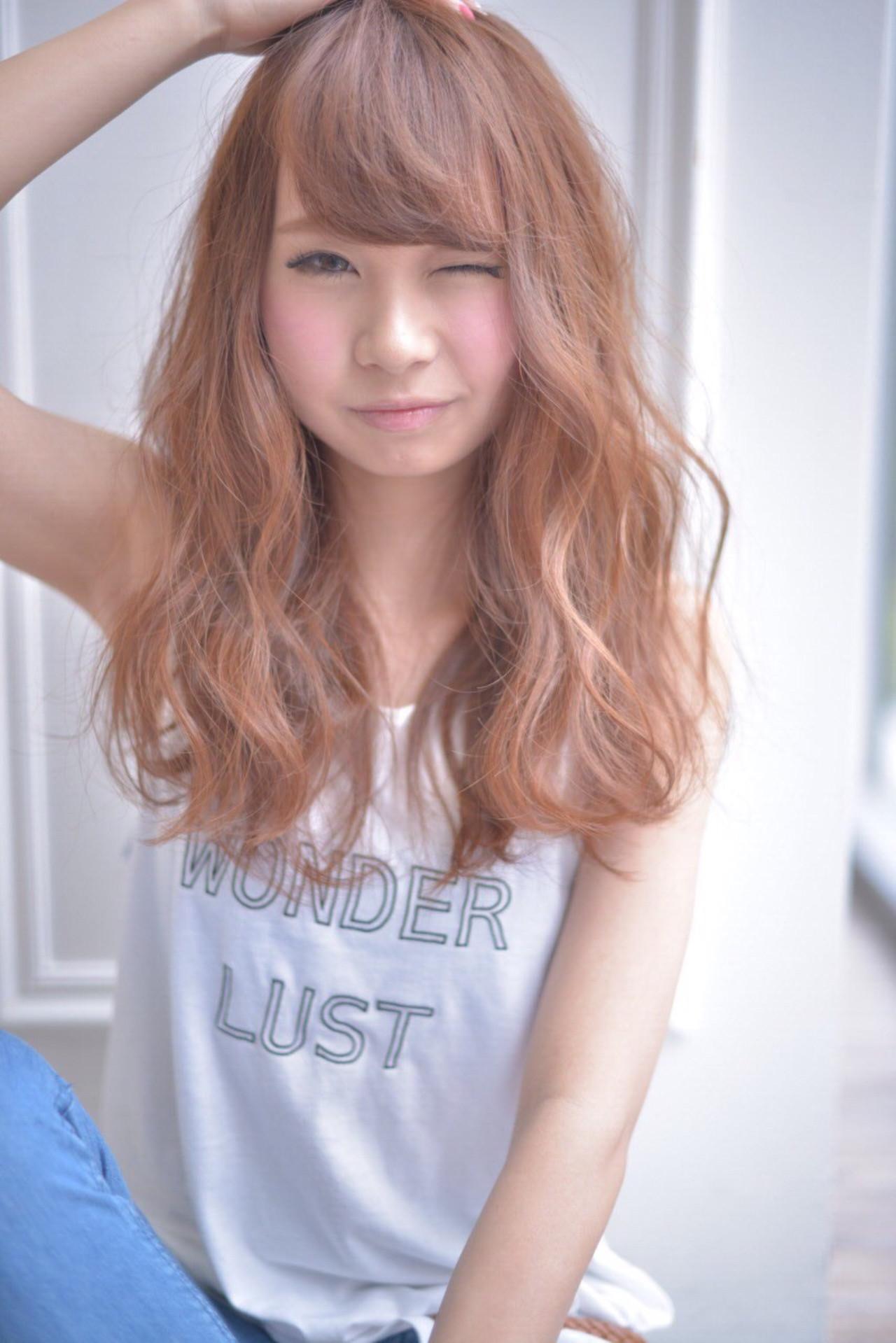 夏 ストリート パーマ ミディアム ヘアスタイルや髪型の写真・画像