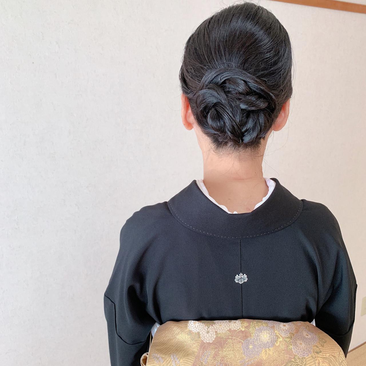 エレガント 着物 結婚式 結婚式ヘアアレンジ ヘアスタイルや髪型の写真・画像 | Moriyama Mami / 福岡天神ヘアセット・着付け専門店【Three-keys】