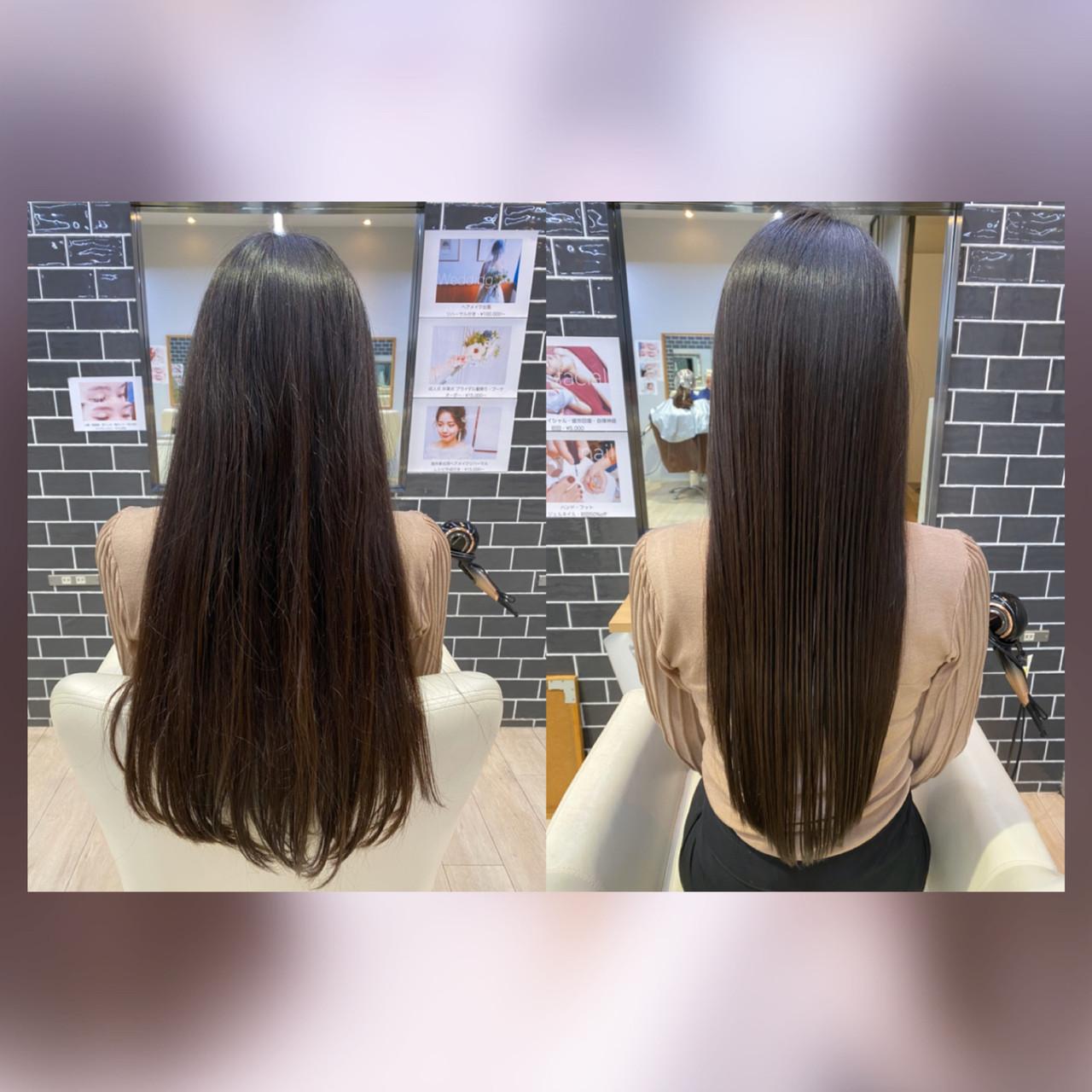 フェミニン 髪質改善カラー 髪質改善 髪質改善トリートメント ヘアスタイルや髪型の写真・画像