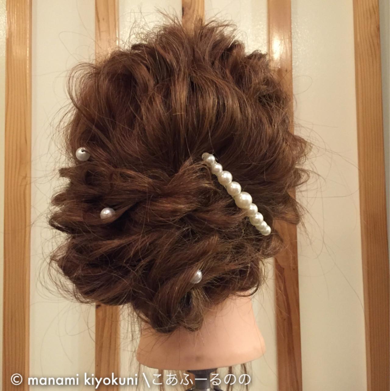 ロング ヘアアレンジ アップスタイル 大人かわいい ヘアスタイルや髪型の写真・画像   manami iwamoto \こあふーるのの / こあふーるのの