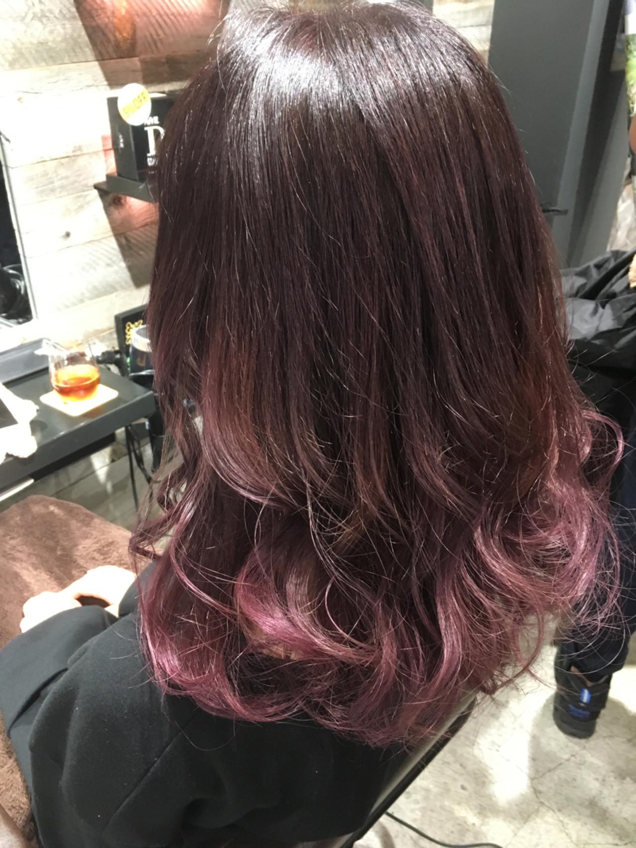 涼しげ ロング ハイライト グレージュ ヘアスタイルや髪型の写真・画像 | 長谷川 龍太 / hair design tea