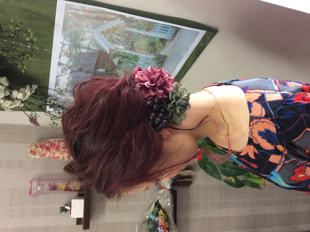 セミロング ダブルカラー 結婚式 グラデーションカラー ヘアスタイルや髪型の写真・画像
