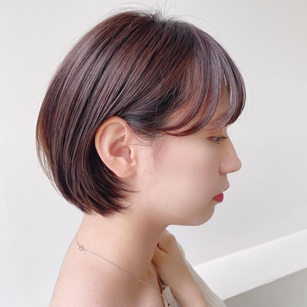 ショートカット ショート ショートボブ グレージュ ヘアスタイルや髪型の写真・画像 | 矢野佑太郎 / GARDEN harajuku