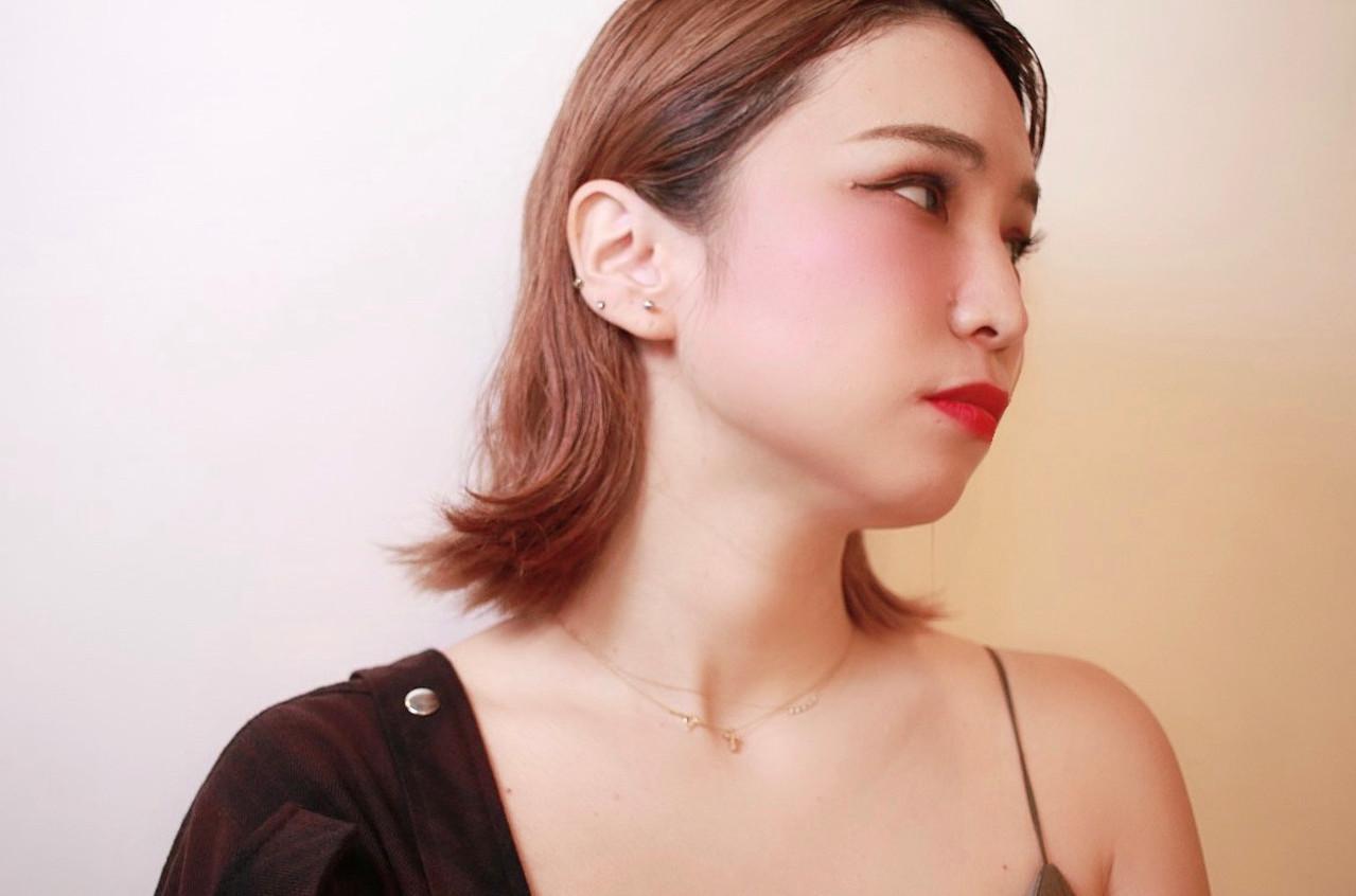 大人かわいい モード まとまるボブ ハイトーン ヘアスタイルや髪型の写真・画像 | minori..miyauchi /