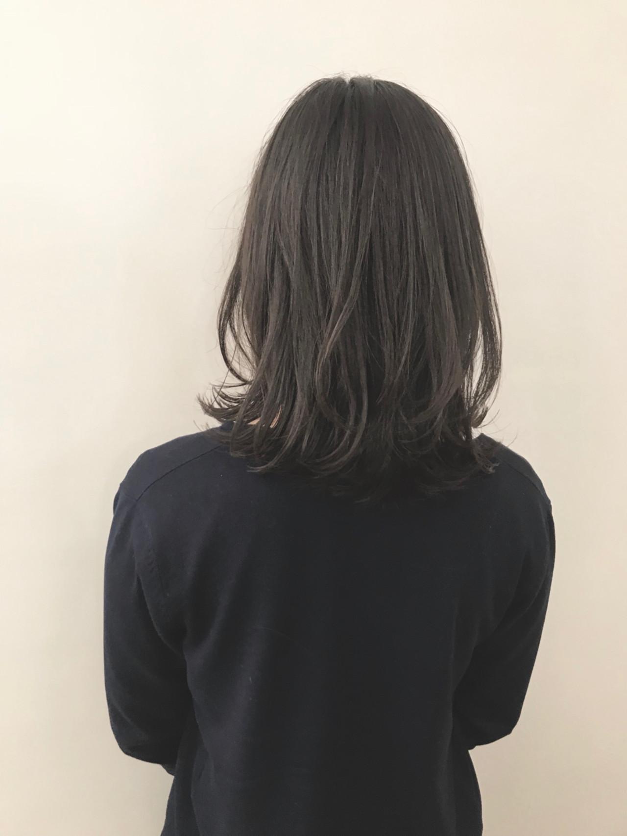 ボブ 切りっぱなし ゆるふわ ミディアム ヘアスタイルや髪型の写真・画像 | ヤマキタ トシキ Neolive / Neolive CiroL.
