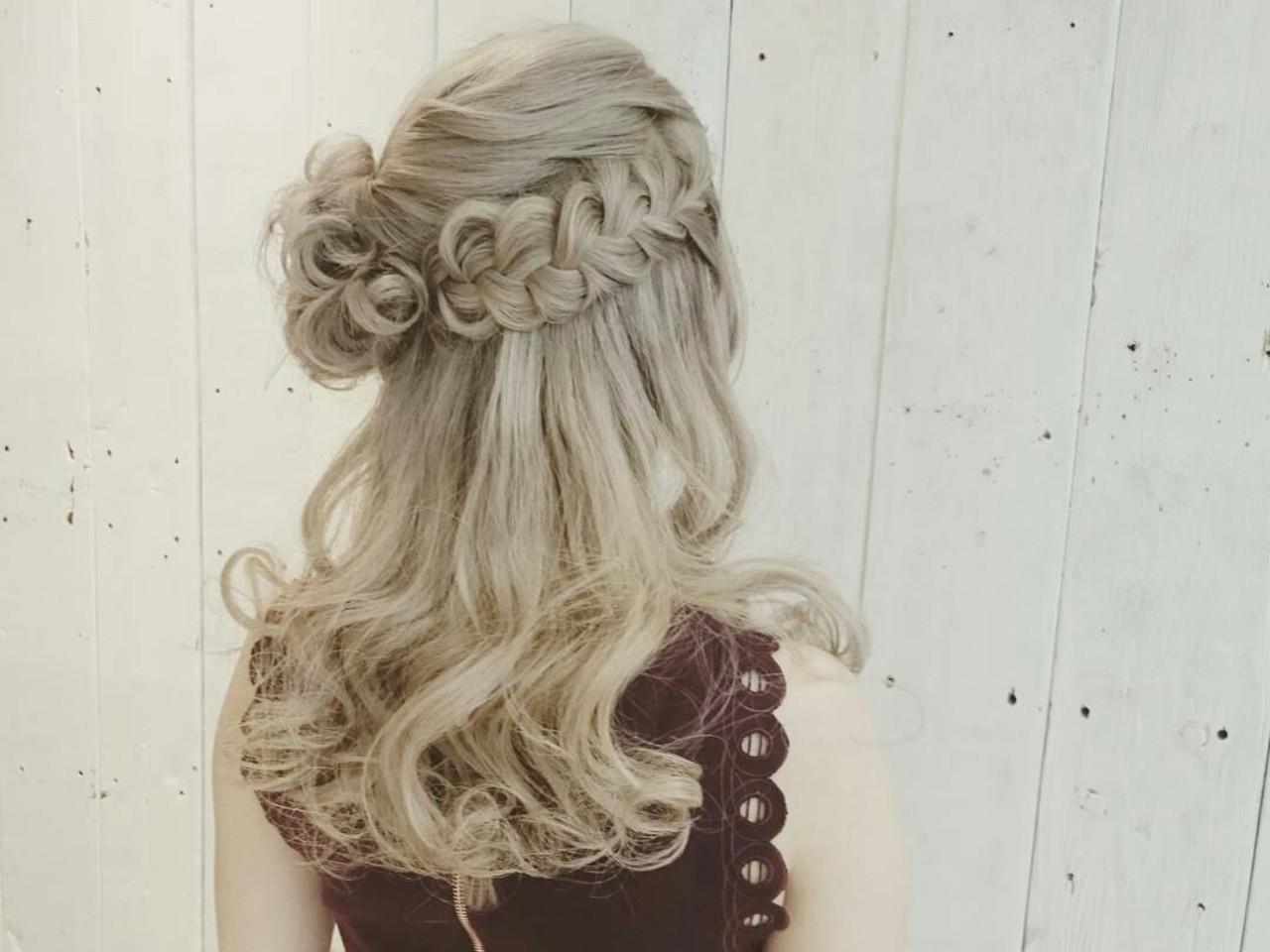 ふわふわ 結婚式 ヘアアレンジ ガーリー ヘアスタイルや髪型の写真・画像