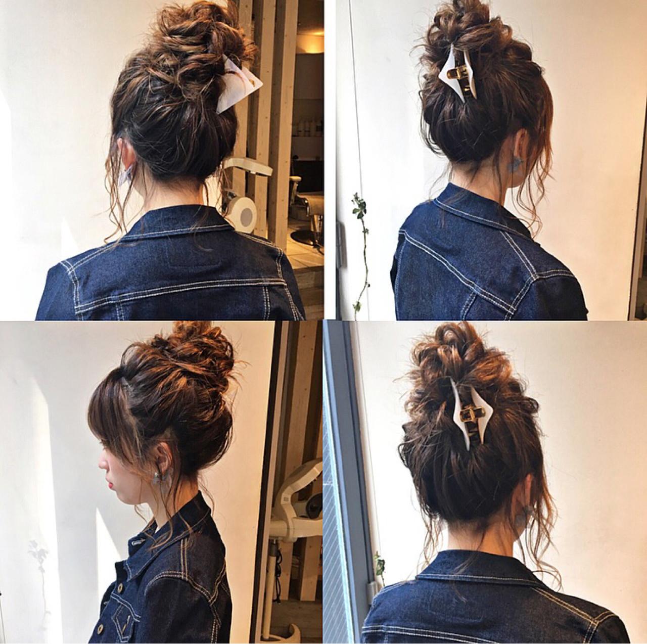 アンニュイ お団子 上品 ヘアアレンジ ヘアスタイルや髪型の写真・画像