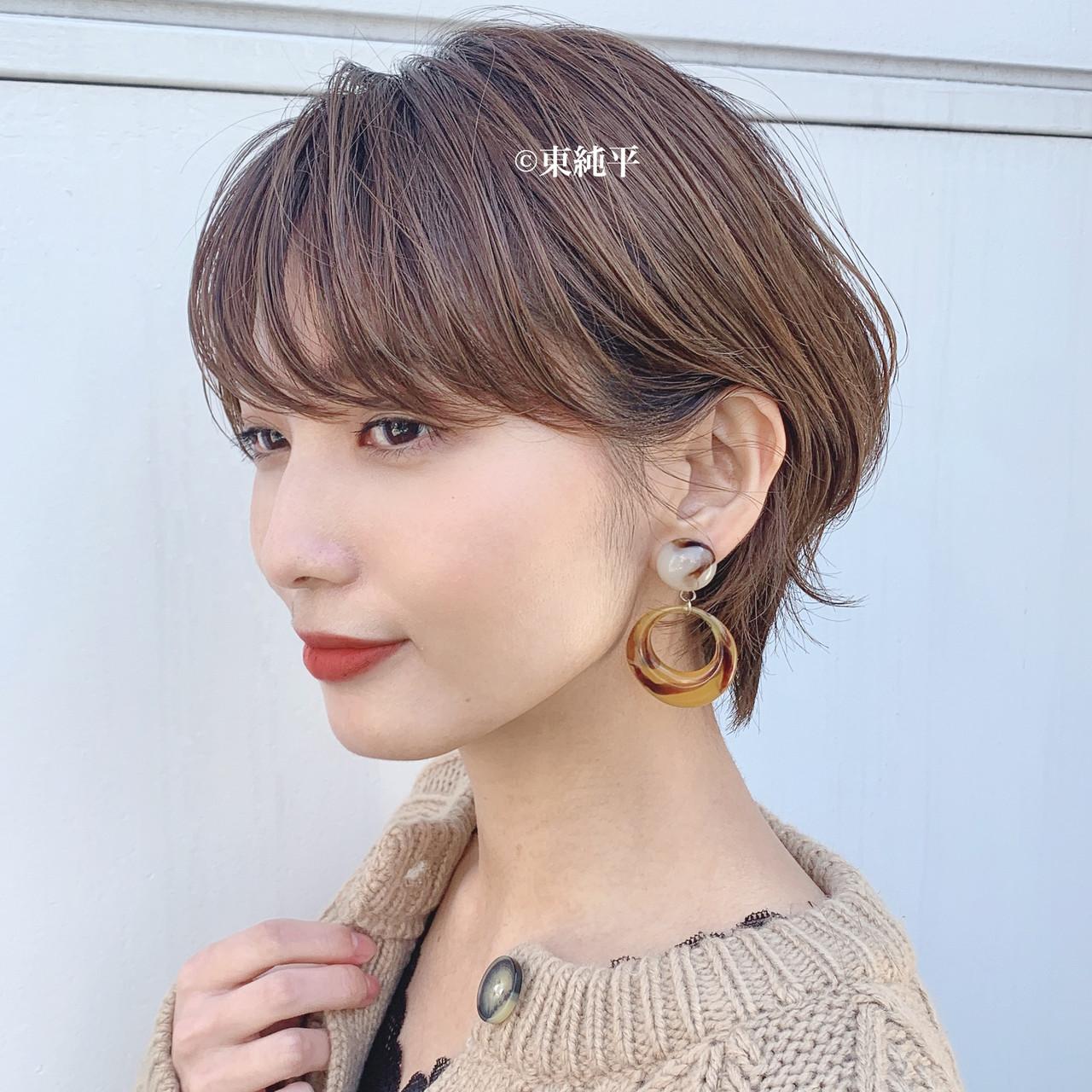 ナチュラル パーマ ハンサムショート ショート ヘアスタイルや髪型の写真・画像 | 【ボブのスペシャリスト】東 純平 / Gallica mimami aoyama