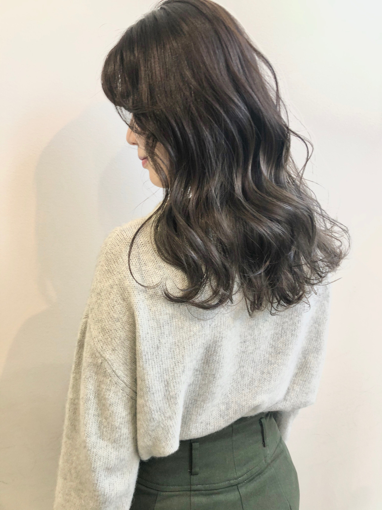 春 春ヘア エレガント アッシュグレー ヘアスタイルや髪型の写真・画像