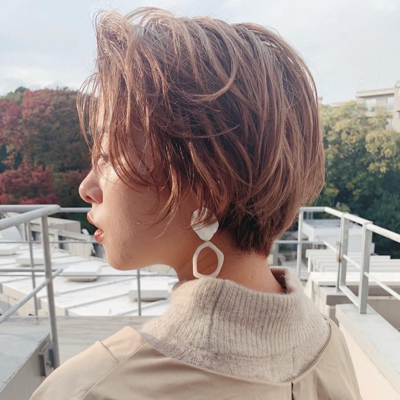 ショート ミニボブ モード ショートヘア ヘアスタイルや髪型の写真・画像 | lora.garden 英太 /  lora.garden