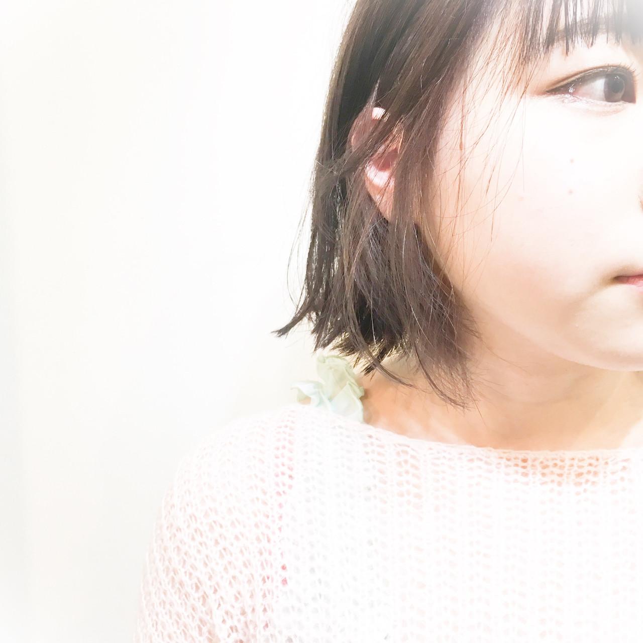 ブラントBOB × グレーアッシュ インナーカラー☆