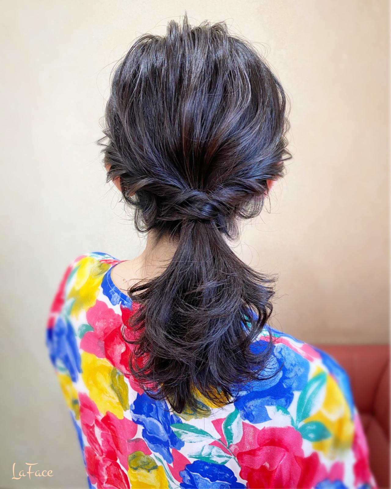 結婚式 セミロング パーティ デート ヘアスタイルや髪型の写真・画像
