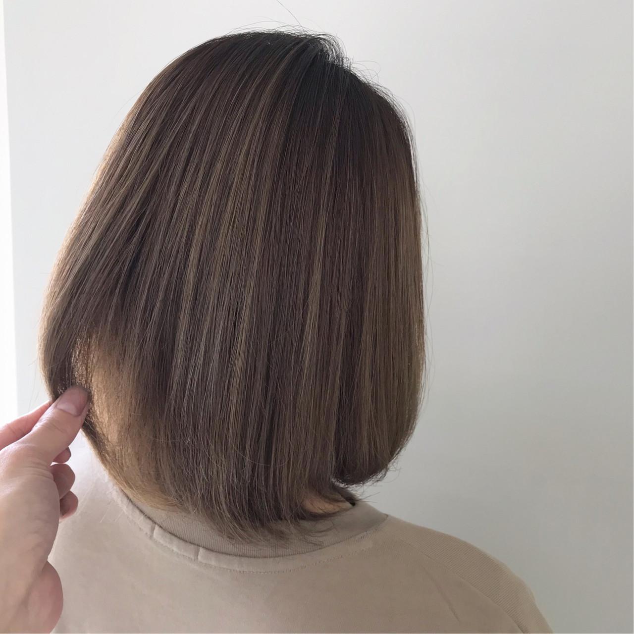 ナチュラル ボブ 外国人風カラー デート ヘアスタイルや髪型の写真・画像   新谷 朋宏 / Free hairstylist shinya