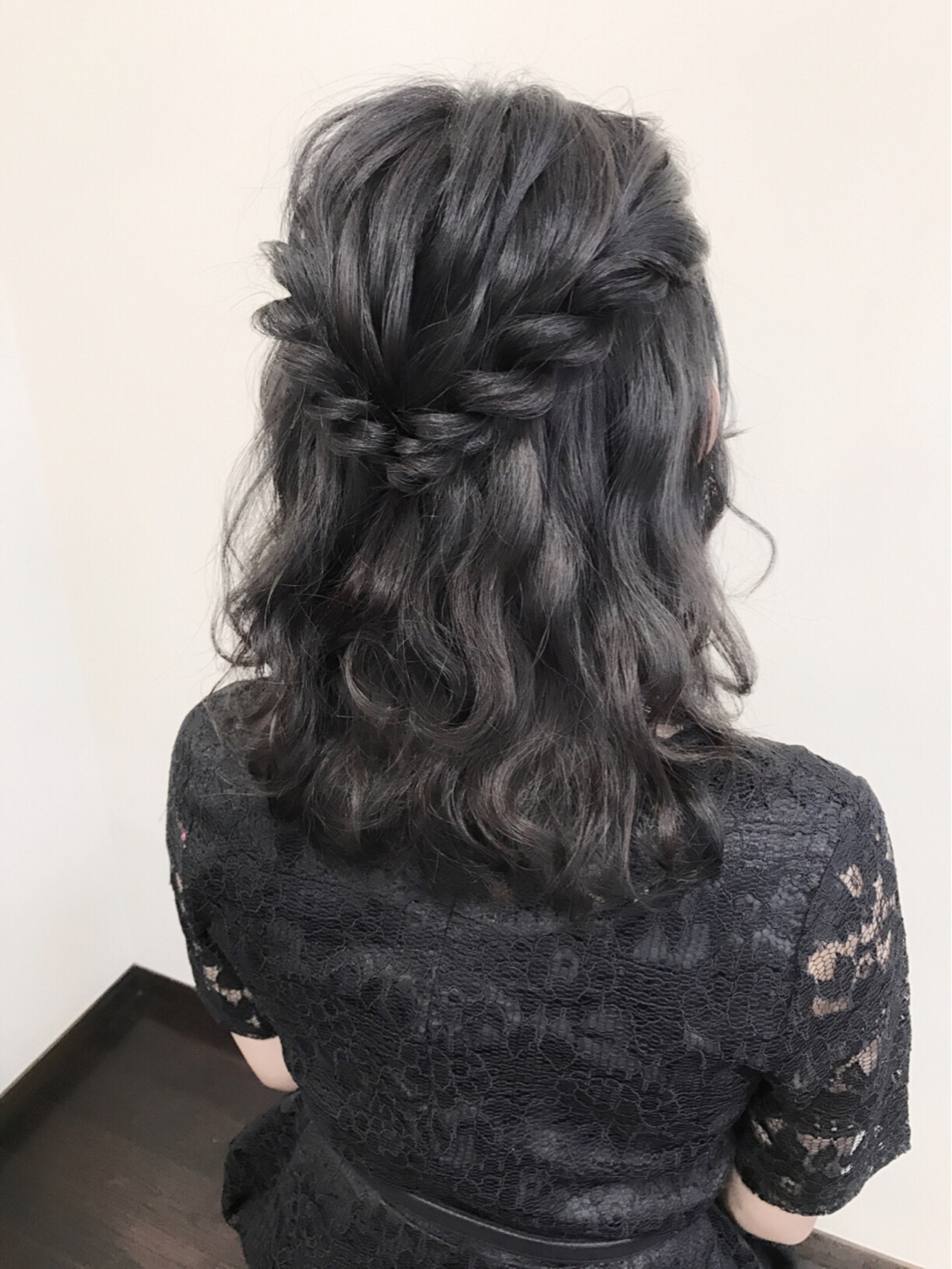 ハーフアップ デート ガーリー 簡単ヘアアレンジ ヘアスタイルや髪型の写真・画像