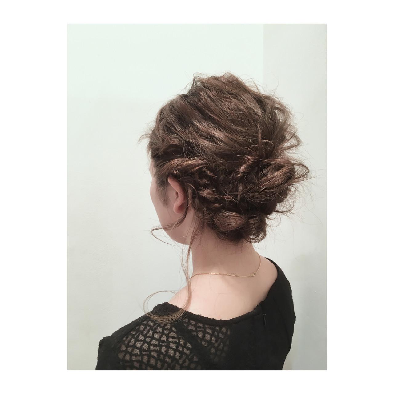 ゆるふわ 簡単ヘアアレンジ セミロング ヘアアレンジ ヘアスタイルや髪型の写真・画像