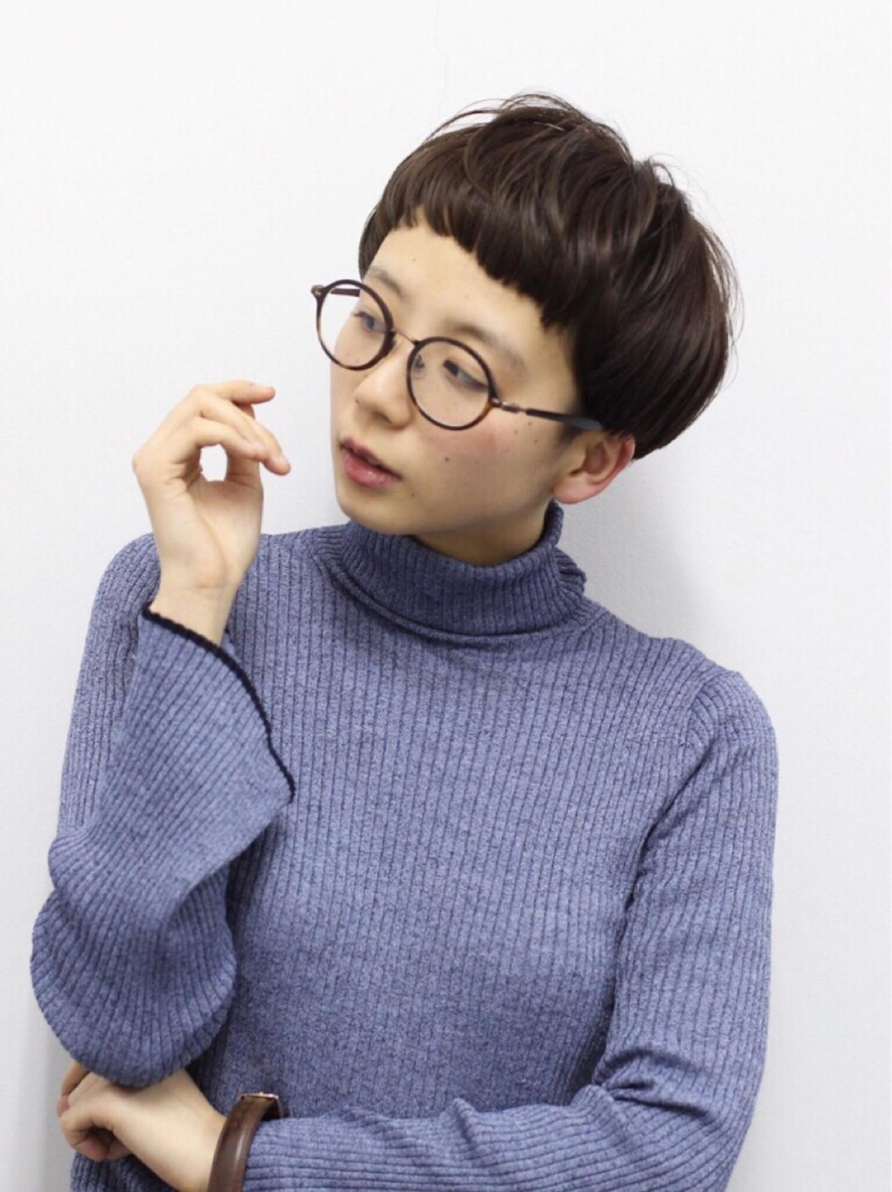 ナチュラル マッシュ ショート アッシュ ヘアスタイルや髪型の写真・画像   井上 拓耶 / know hair studio