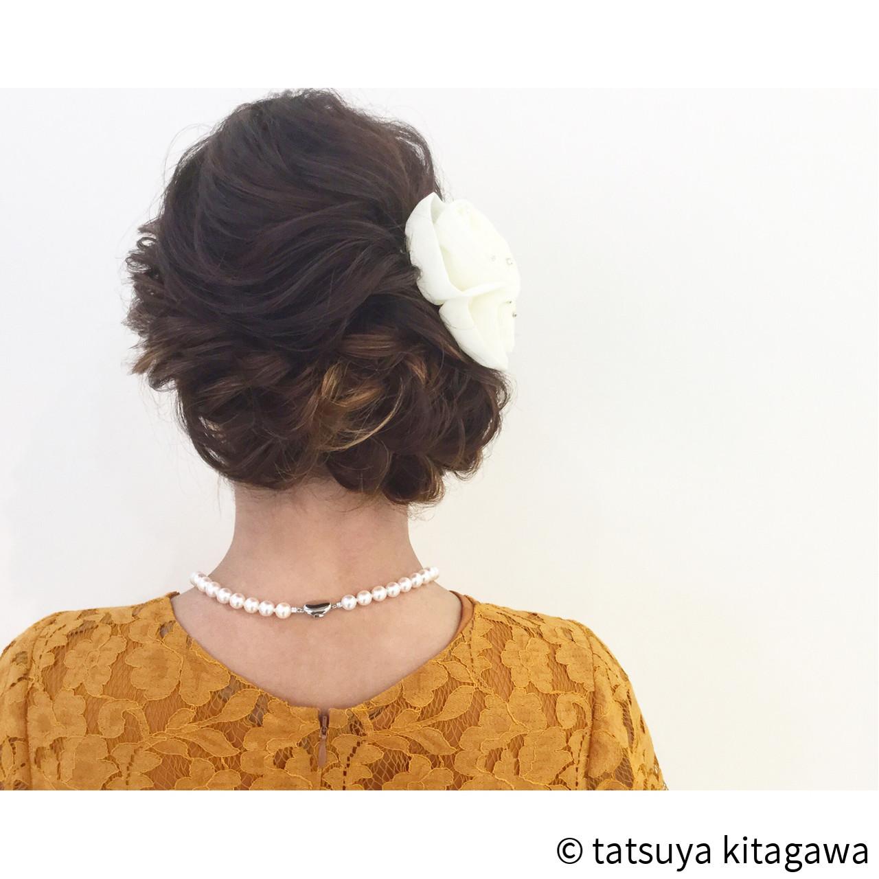 上品 結婚式 エレガント セミロング ヘアスタイルや髪型の写真・画像 | tatsuya kitagawa / clarity 京都駅前本店