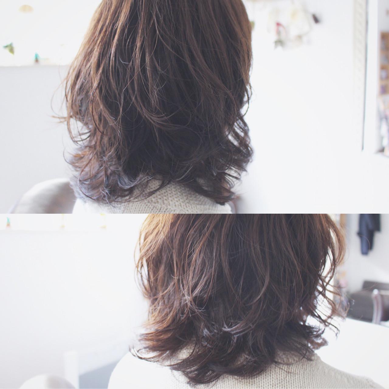パーマ 大人かわいい フェミニン ナチュラル ヘアスタイルや髪型の写真・画像 | creap / creap