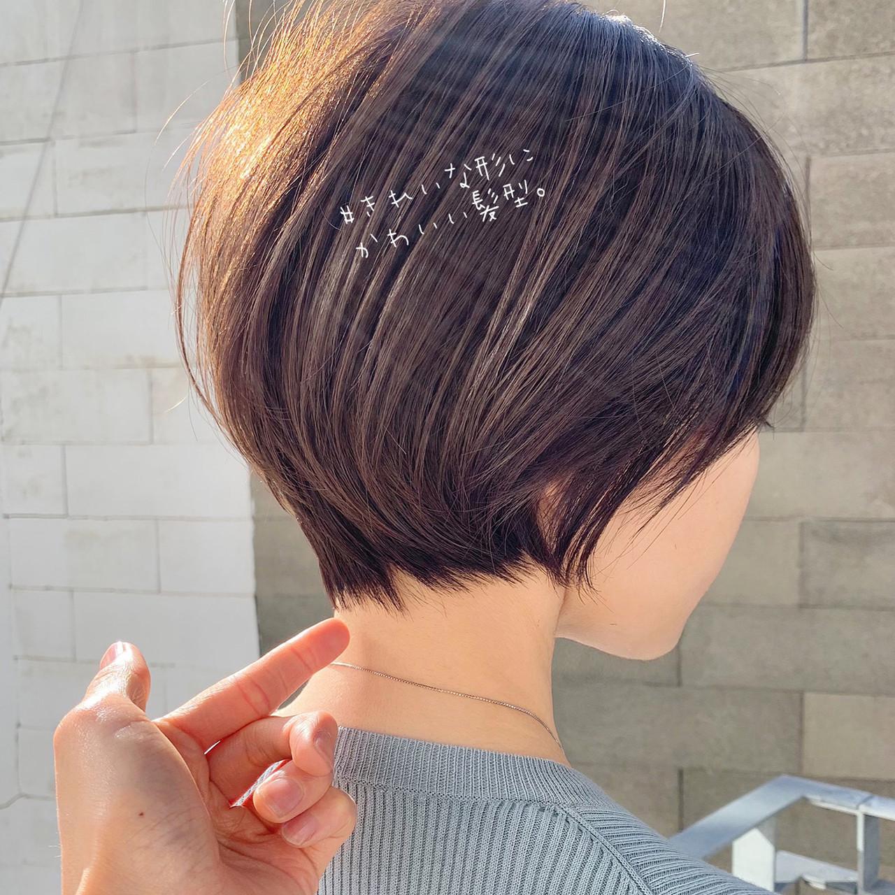 ショート 大人かわいい ショートヘア ナチュラル ヘアスタイルや髪型の写真・画像   ショートボブの匠【 山内大成 】『i.hair』 / 『 i. 』 omotesando
