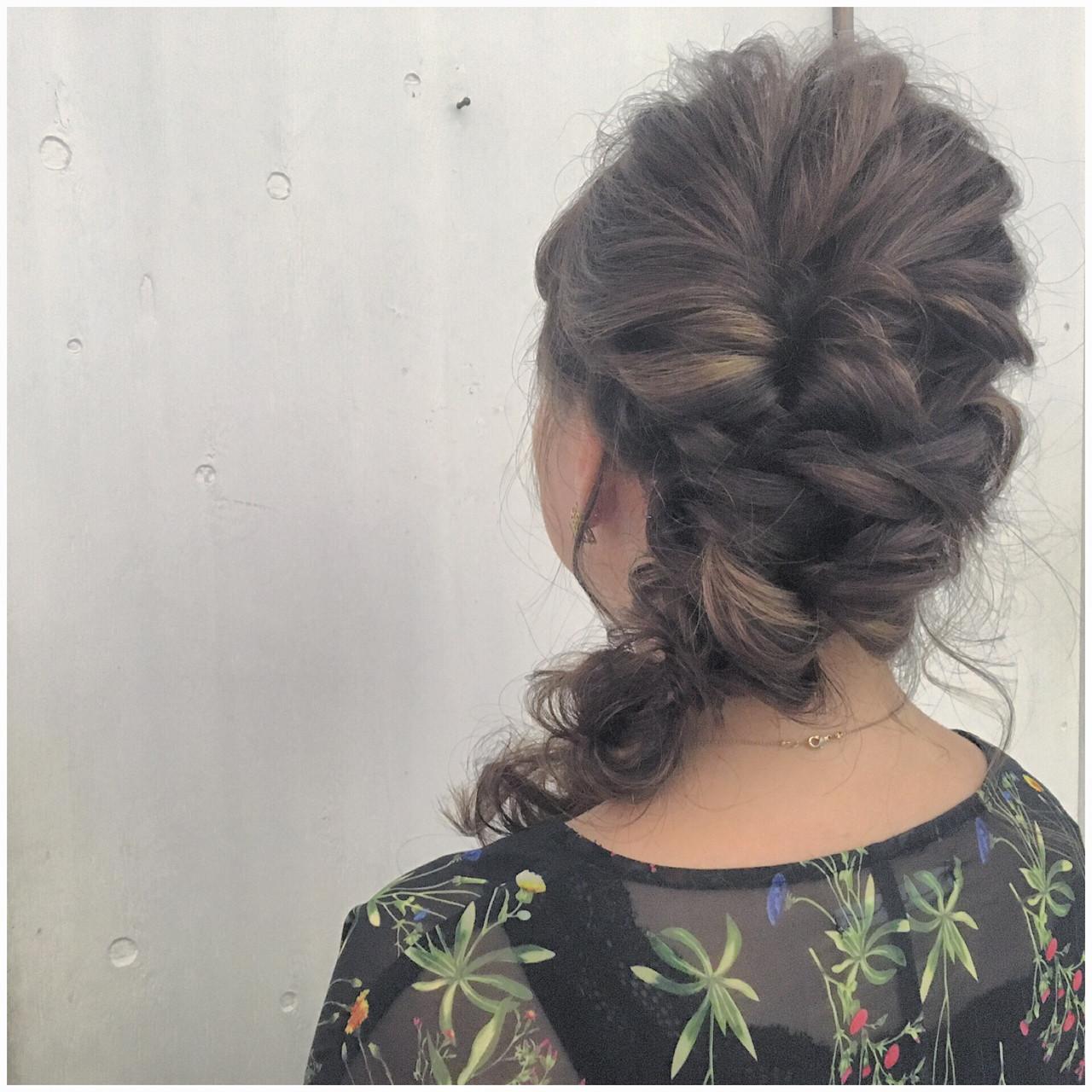 ヘアアレンジ ストリート 結婚式 ロング ヘアスタイルや髪型の写真・画像