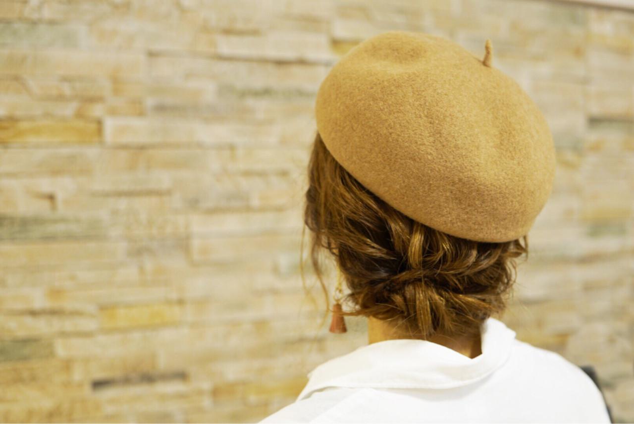 大人女子 ベレー帽 ショート トレンド ヘアスタイルや髪型の写真・画像
