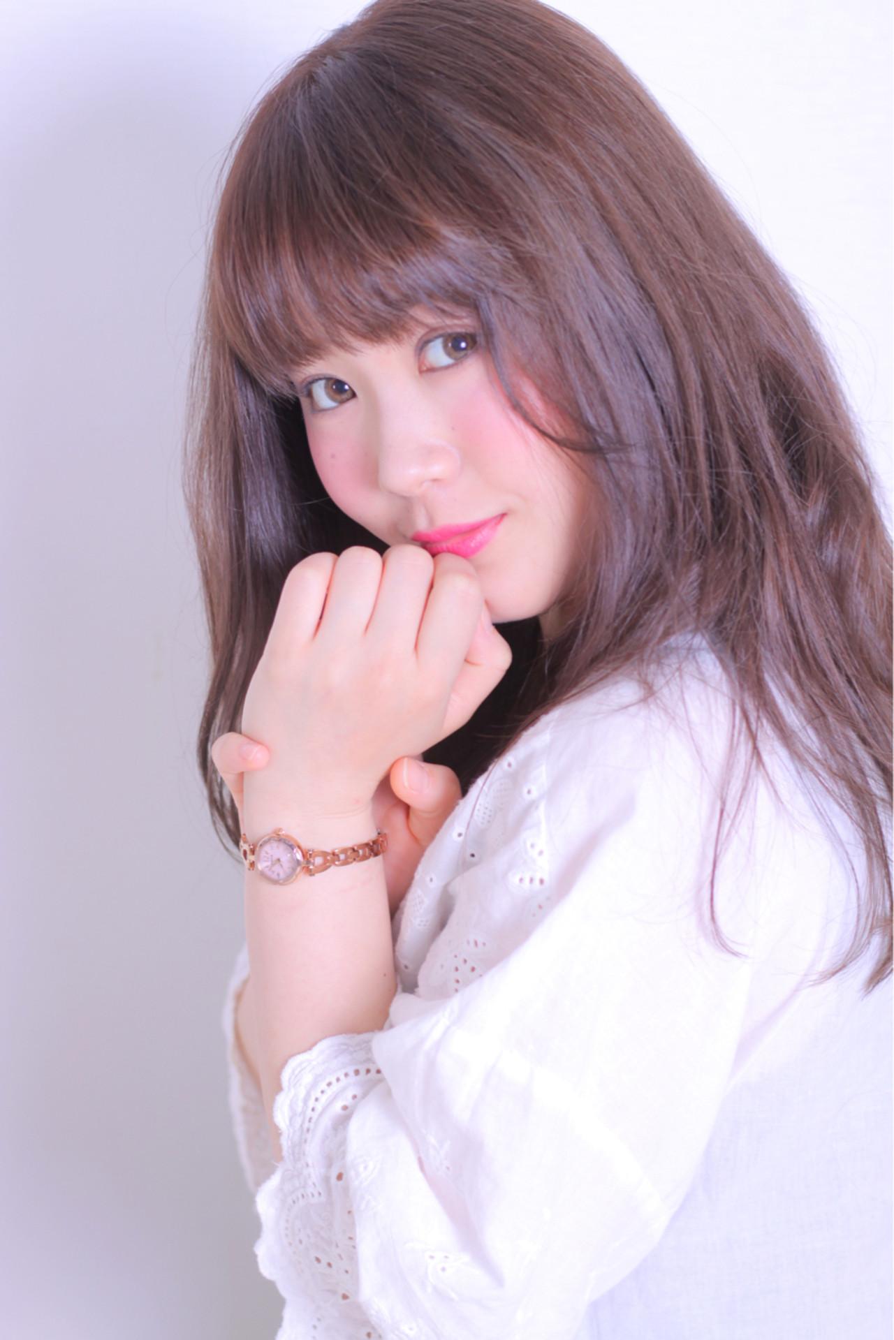 アンニュイ かわいい 愛され ロング ヘアスタイルや髪型の写真・画像