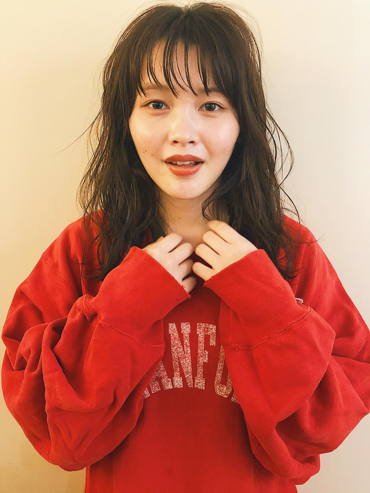 ナチュラル ヘアアレンジ ダークアッシュ ウルフカット ヘアスタイルや髪型の写真・画像 | Suguru Komuro / Quown'   ( クオン )