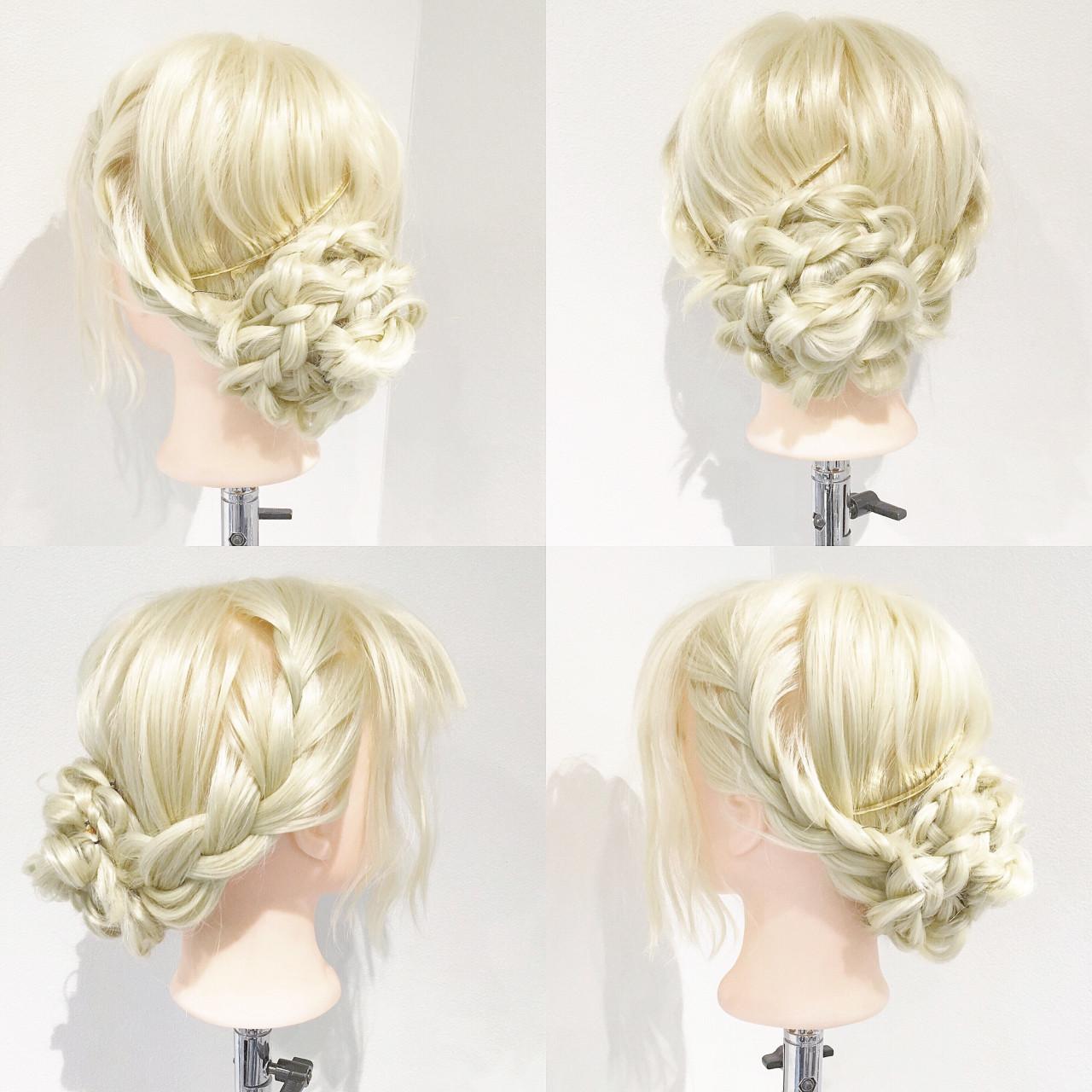 ショート エレガント 上品 ヘアアレンジ ヘアスタイルや髪型の写真・画像