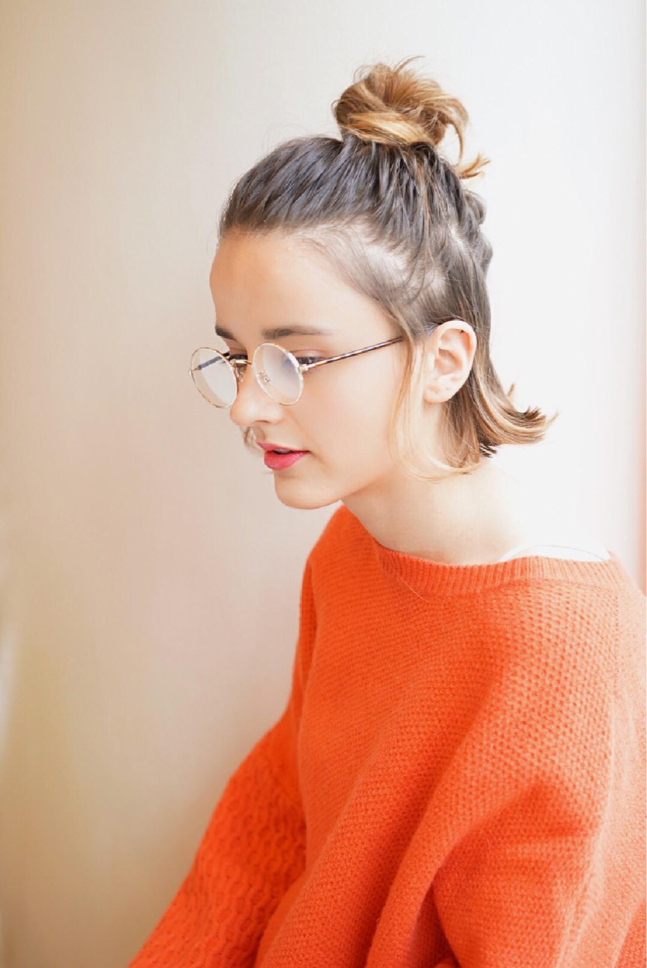 外国人風 簡単ヘアアレンジ パーマ 大人かわいい ヘアスタイルや髪型の写真・画像
