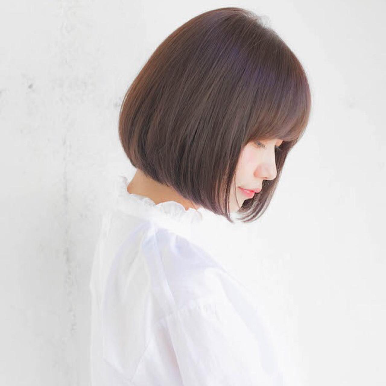 グレージュ 前髪あり ナチュラル 黒髪 ヘアスタイルや髪型の写真・画像   竹澤 優/relian青山Top stylist / relian青山