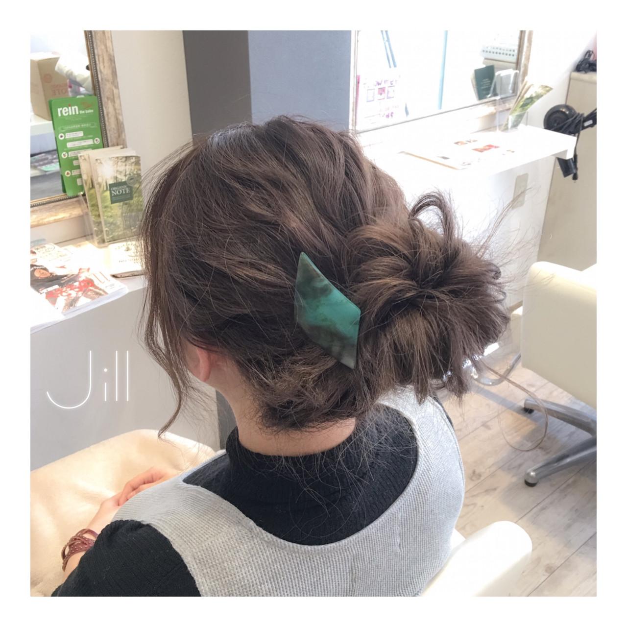 簡単ヘアアレンジ ミディアム バレッタ 外国人風 ヘアスタイルや髪型の写真・画像 | 花房 佑典 / Jill / Hair Design Jill