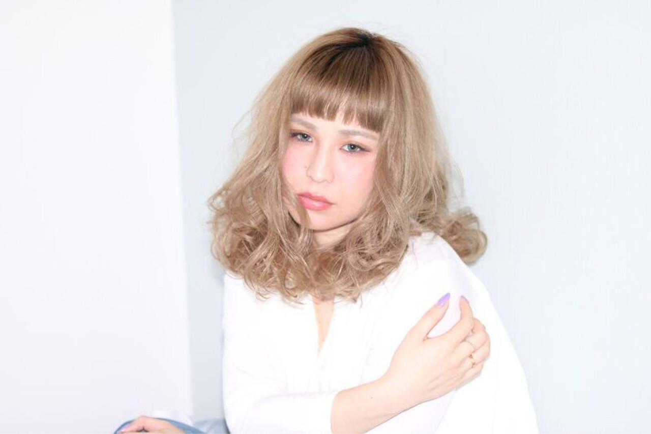 上品 セミロング 外国人風 前髪あり ヘアスタイルや髪型の写真・画像