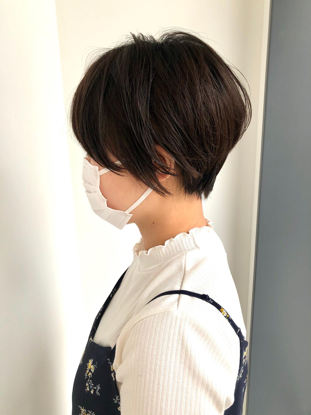 ショートボブ ミニボブ ナチュラル ベリーショート ヘアスタイルや髪型の写真・画像   長谷川秀幸 / K-two名古屋