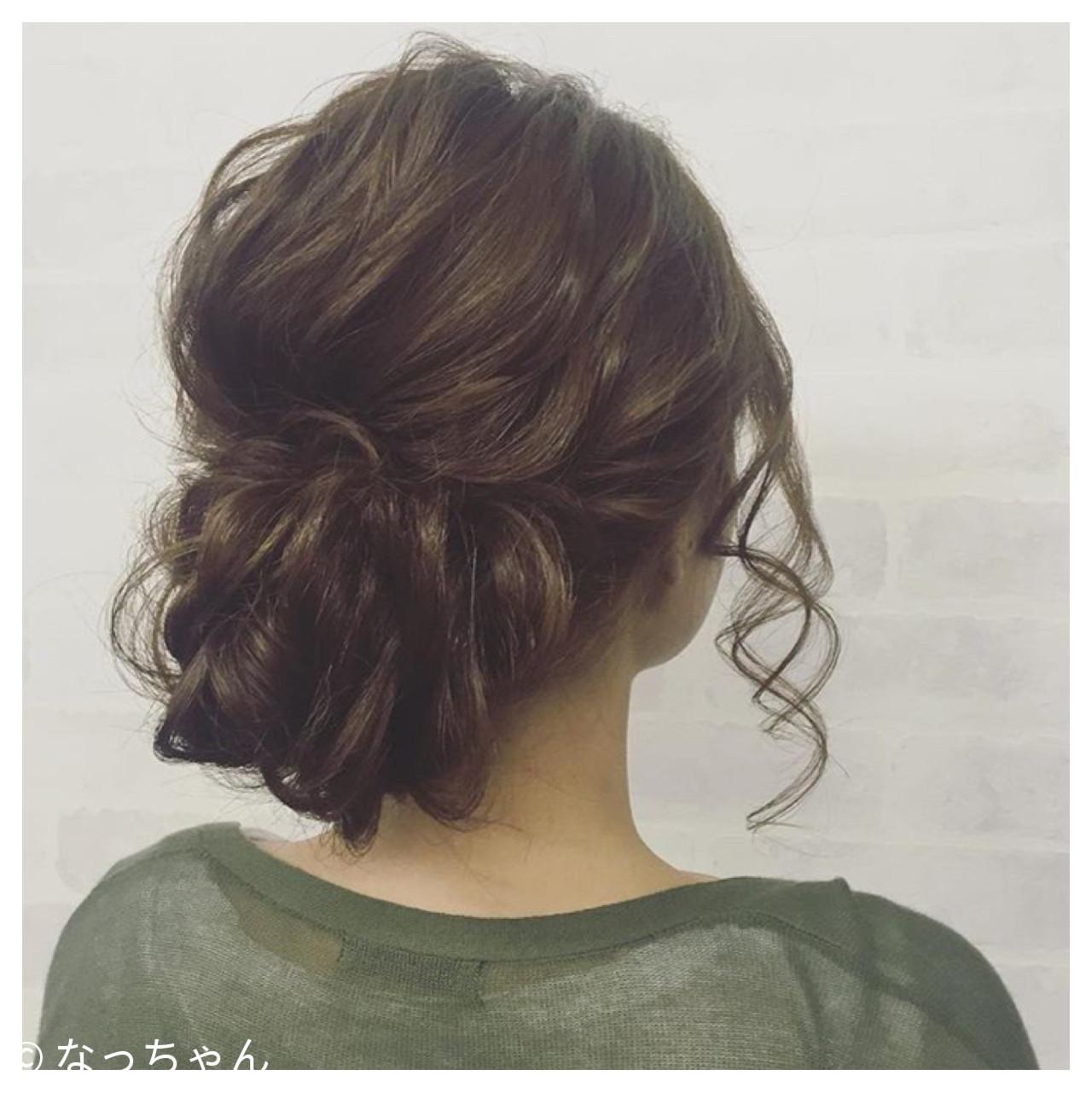 アップスタイル ロング パーティ ヘアアレンジ ヘアスタイルや髪型の写真・画像 | なっちゃん / G-girl