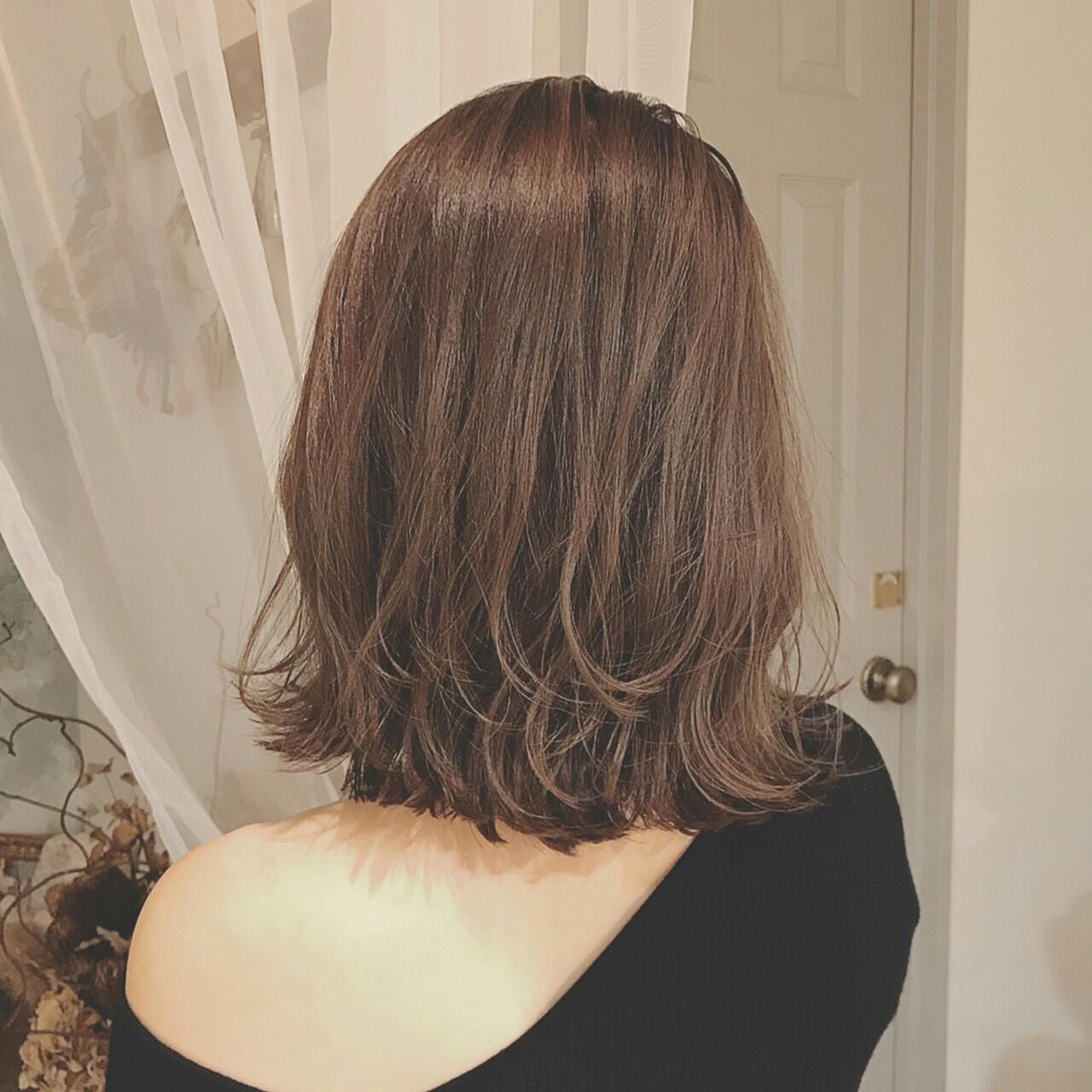 パーマ ミディアム 上品 秋 ヘアスタイルや髪型の写真・画像