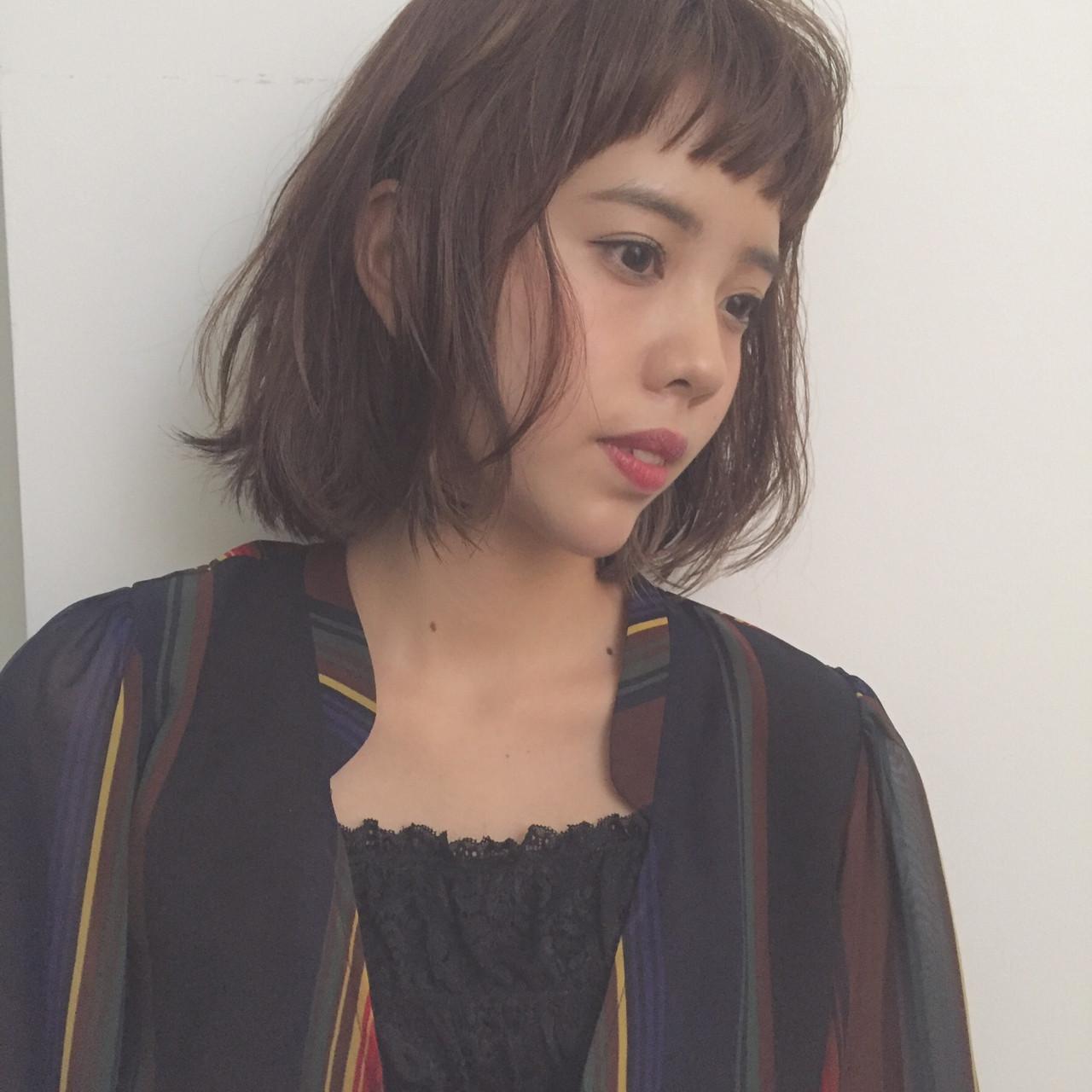 ナチュラル 色気 ニュアンス ボブ ヘアスタイルや髪型の写真・画像 | 勝田 祐介 / basil pupula
