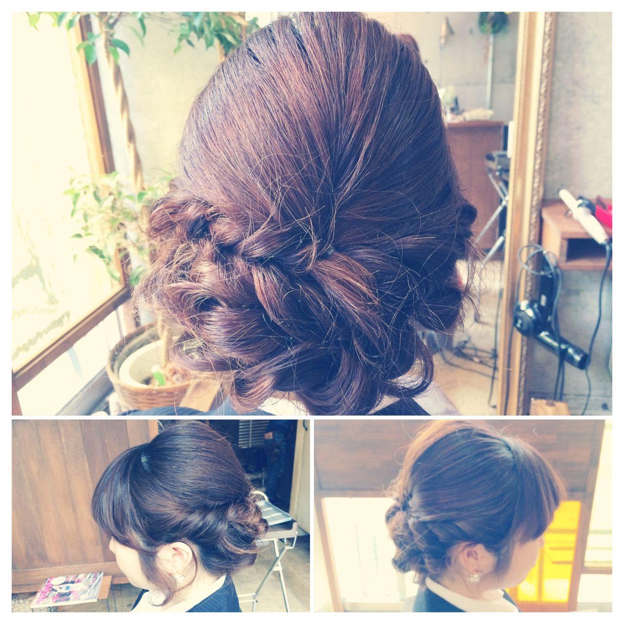 ねじり 結婚式 コンサバ ヘアアレンジ ヘアスタイルや髪型の写真・画像 | 小林 亜美 / Cadre
