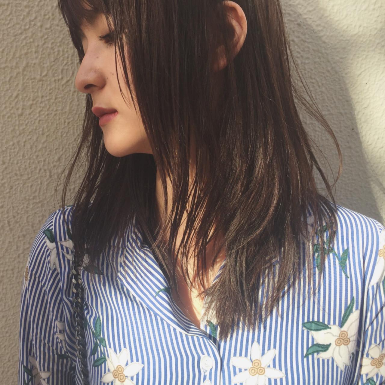 女子会 ナチュラル デート 黒髪 ヘアスタイルや髪型の写真・画像