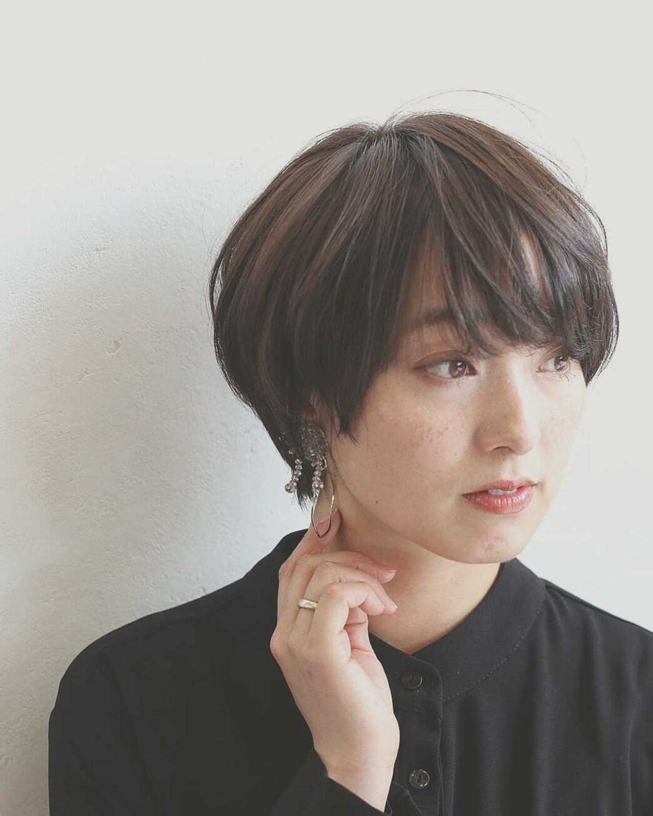 ストレート ナチュラル 大人女子 ショート ヘアスタイルや髪型の写真・画像 | asuka /